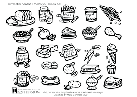 Food Coloring Page Cute Kawaii Food Coloring Pages