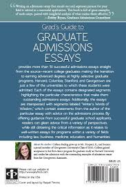 press grad s guide to graduate admissions essays  reviews