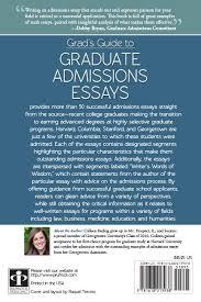 press grad s guide to graduate admissions essays  reviews