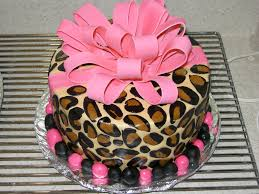 Leopard Print Party Decorations Birthday Cake Leopard Print How To Make Leopard Print Birthday