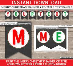 chalkboard pennant banner template diy editable banner bunting instant via simonemadeit