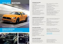 Led Signature Lighting Ford 2018 Ford Mustang Standard Features Revealed In Leaked