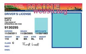 Drivers License V1 Maine Photoshop Template