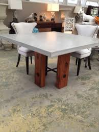 Concrete Top Dining Tables Square Concrete Dining Table Mecox Gardens