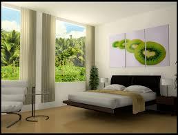 Elegant Modern Bedroom Design Ideas 2016 Beige Fabric Vertical Curtain Brown Varnished Wood End Table Shelves