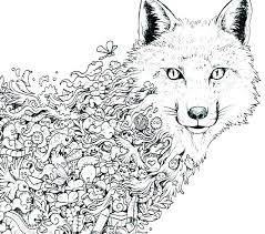 Wolf Coloring Pages Hard Ggluinfo