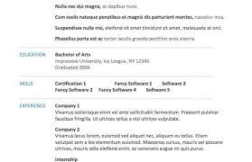 Resume Template Printable Resume Template