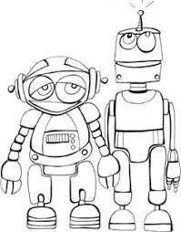 e coloring book pages printable robots coloring book pages