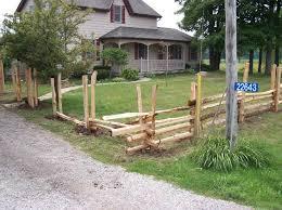 Cedar split rails fence pictures 2