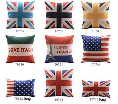 French Flag Pillows Italian Flag Pillow American Flag Pillow