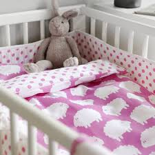 farg and form sheep nursery cotbed bedding