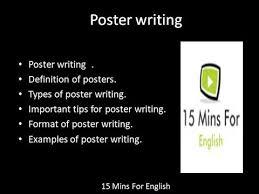 Poster Writing In Hindi And English