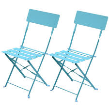 set of folding chairs. Outsunny Steel 2 Piece Bistro Set Folding Chairs Balcony Patio Furniture Of T