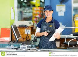 Female Cashier Store Stock Photo Image Of Assistant 41251952