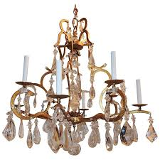 beautiful french gilt bagues eight arm transitional crystal jansen chandelier for