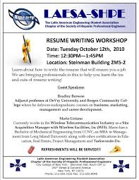 Ultimate Resume Building Workshop Ideas Also Resume Writing