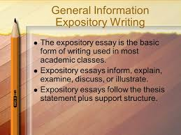 an introduction compiled by shelia d sutton ma nbct ppt  expository essays follow the thesis statement plus support structure general information expository writing
