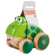 Hape Frog Pull Along Green