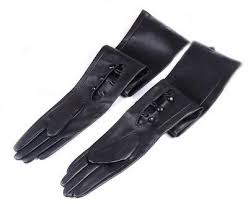 """women <b>wrist buttons</b> 60cm(23.6"""")<b>long</b> real leather double leather ..."""
