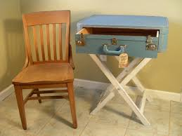 Suitcase Nightstand Custom Diy Suitcase Nightstand Table With Drawer Painted With 4752 by guidejewelry.us