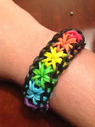Rainbow Starburst Rubber Band Bracelet Rubber Band Crafts