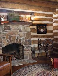 a timeless log home primitive fireplacecabin