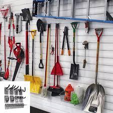 garage wall organizer storage system garden tools hangers 32 sq ft hook mounts unbranded garage wall hangers o99