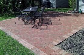 simple paver patio