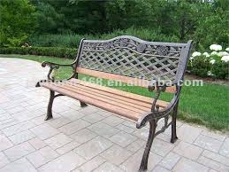wrought iron outdoor benches antique wrought iron garden bench with wooden slats for wood wrought iron outdoor