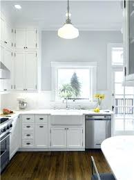 white cabinets gray walls kitchen with black grey blue