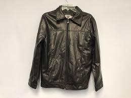 ga milano mens black leather jacket coat size s made in italy