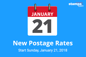Usps Announces 2018 Postage Rate Increase Stamps Com Blog