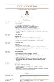Finance Manager Resume Sample Resume Ideas