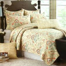 cynthia rowley ischia medallion 3pc king quilt set moroccan orange aqua teal tan cynthia rowley quilts