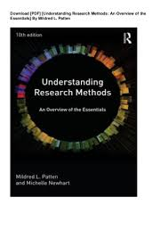 Research Design And Methods 10th Edition Download Pdf Understanding Research Methods An Overview