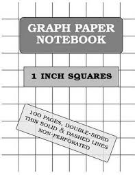 Graph Paper Book 1 Inch Squares 100 Pages Thin Solid And Dashed Lines