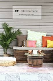diy outdoor pallet sectional. DIY: Pallet Sectional For Outdoor Furniture Diy R