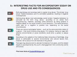 how to write an expository essay on drug use and its consequences 6 5 interesting facts for an expository essay