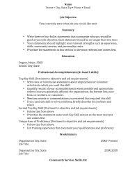 Functional Resume Outline