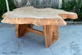 Wohndesign Baumstamm Tisch Großer Schreibtisch