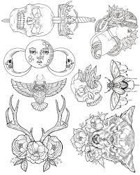 Wendy Ortiz Tattoo Flash First Edition эскизы тела флэш тату