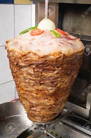 Kitchen Snack Bar D Ner Kebab On Spit In The Kitchen Of A Snack Bar Stock Photo