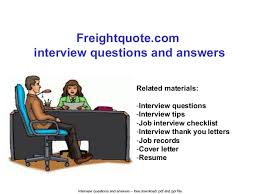 Freight Quote Com Cool Freightquote Interview Questions And Answers