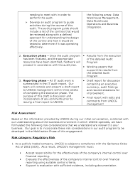 Sample Audit Plan Template