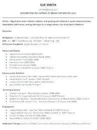 Sample Resume For College Admission Sample Resume For College