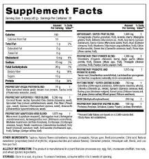 tropical shakeology nutrition facts
