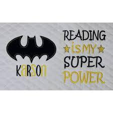 Free Batman Machine Embroidery Designs Batman Logo Single Applique With Reading Is My Super Power