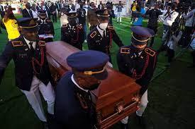 Violent protests mar funeral of slain ...