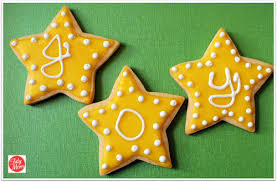 christmas star cookies. Contemporary Cookies Star Cookies With Glaze Icing In Christmas Cookies A