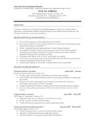 ... Sample Resume for Financial Advisor Position Beautiful Financial  Advisor Resume Template ...